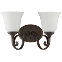 Craftmade 24202-MB-WG Barrett Place 2 Light 15 inch Mocha Bronze Vanity Light Wall Light in White Frosted Glass