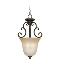 Barrett Place 3 Light 13 inch Mocha Bronze Foyer Light Ceiling Light in Light Umber Etched
