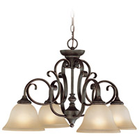 Barrett Place 4 Light 27 inch Mocha Bronze Down Chandelier Ceiling Light in Light Umber Etched