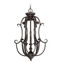 Barrett Place 3 Light 16 inch Mocha Bronze Foyer Light Ceiling Light, Cage
