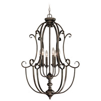 Barrett Place 6 Light 24 inch Mocha Bronze Cage Foyer Light Ceiling Light