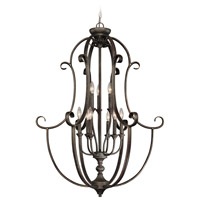 Barrett Place 9 Light 32 inch Mocha Bronze Foyer Light Ceiling Light, Cage