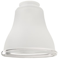 Bell Clear 6 inch Glass in Frost/Clear