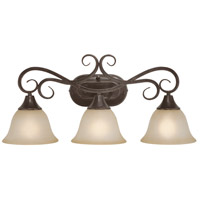 Torrey 3 Light 21 inch Burnished Armor Vanity Light Wall Light in Light Umber Etched