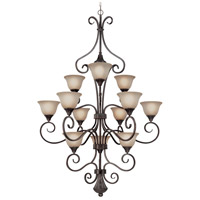 Craftmade 24912-BA Torrey 12 Light 42 inch Burnished Armor Chandelier Ceiling Light in Light Umber Etched photo thumbnail