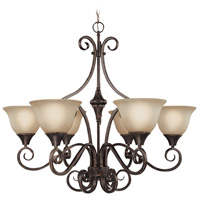 Craftmade 24926-BA Torrey 6 Light 32 inch Burnished Armor Chandelier Ceiling Light in Light Umber Etched photo thumbnail