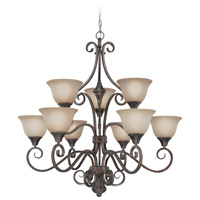 Craftmade 24929-BA Torrey 9 Light 36 inch Burnished Armor Chandelier Ceiling Light in Light Umber Etched