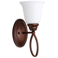 Craftmade 25001-OB-WG Cordova 1 Light 6 inch Old Bronze Wall Sconce Wall Light in White Frosted Glass, Jeremiah