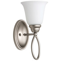 Craftmade 25001-SN-WG Cordova 1 Light 6 inch Satin Nickel Wall Sconce Wall Light in White Frosted Glass, Jeremiah