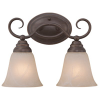 Craftmade 25002-OLB Cordova 2 Light 14 inch Old Bronze Vanity Light Wall Light in Painted Alabaster