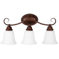 Craftmade 25003-OB-WG Cordova 3 Light 21 inch Old Bronze Vanity Light Wall Light in White Frosted Glass, Jeremiah