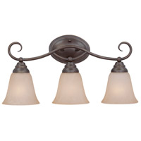 Cordova 3 Light 21 inch Old Bronze Vanity Light Wall Light in Warm Alabaster