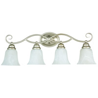 Jeremiah by Craftmade Cordova 4 Light Vanity Light in Satin Nickel 25004-SN