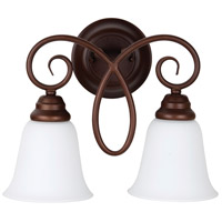 Craftmade 25022-OB-WG Cordova 2 Light 14 inch Old Bronze Wall Sconce Wall Light in White Frosted Glass, Jeremiah