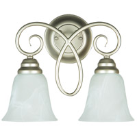 Jeremiah by Craftmade Cordova 2 Light Wall Sconce in Satin Nickel 25022-SN