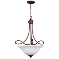 Craftmade 25023-OB-WG Cordova 3 Light 21 inch Old Bronze Inverted Pendant Ceiling Light in White Frosted Glass, Jeremiah
