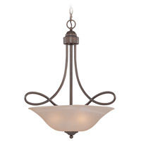 Craftmade 25023-OLB Cordova 3 Light 21 inch Old Bronze Inverted Pendant Ceiling Light in Painted Alabaster