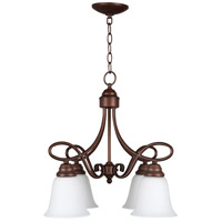 Craftmade 25024-OLB-WG Cordova 4 Light 21 inch Old Bronze Down Chandelier Ceiling Light in White Frosted Glass, Jeremiah