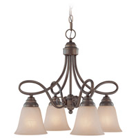 Craftmade 25024-OLB Cordova 4 Light 21 inch Old Bronze Down Chandelier Ceiling Light in Painted Alabaster