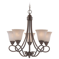 Cordova 5 Light 24 inch Old Bronze Chandelier Ceiling Light in Warm Alabaster