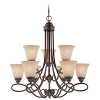 Craftmade 25029-OLB Cordova 9 Light 29 inch Old Bronze Chandelier Ceiling Light in Painted Alabaster photo thumbnail