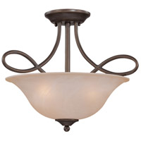 Craftmade 25033-OLB Cordova 3 Light 18 inch Old Bronze Semi-Flushmount Ceiling Light in Warm Alabaster, Convertible