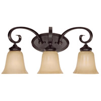 Craftmade 25103-ET Stanton 3 Light 22 inch English Toffee Vanity Light Wall Light in Tea-Stained Glass
