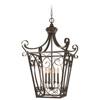 Craftmade 25124-ET Stanton 4 Light 19 inch English Toffee Foyer Light Ceiling Light, Cage