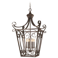 Stanton 6 Light 24 inch English Toffee Foyer Light Ceiling Light, Cage