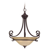 Craftmade 25143-ET Stanton 3 Light 20 inch English Toffee Inverted Pendant Ceiling Light in Tea-Stained Glass