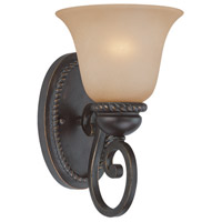 Highland Place 1 Light 7 inch Mocha Bronze Wall Sconce Wall Light in Light Umber Etched