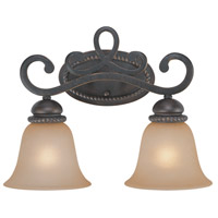 Jeremiah by Craftmade Highland Place 2 Light Vanity Light in Mocha Bronze 25202-MB