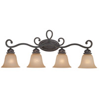 Jeremiah by Craftmade Highland Place 4 Light Vanity Light in Mocha Bronze 25204-MB