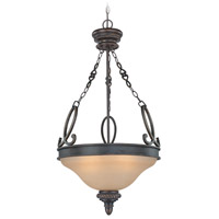 Jeremiah by Craftmade Highland Place Inverted 3 Light Pendant in Mocha Bronze 25223-MB