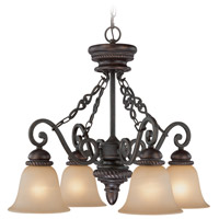 Craftmade 25224-MB Highland Place 4 Light 26 inch Mocha Bronze Down Chandelier Ceiling Light in Light Umber Etched