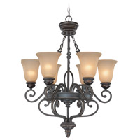 Craftmade 25226-MB Highland Place 6 Light 28 inch Mocha Bronze Chandelier Ceiling Light in Light Umber Etched