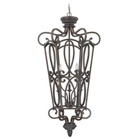 Highland Place 6 Light 28 inch Mocha Bronze Foyer Light Ceiling Light, Cage