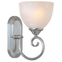 Craftmade 25301-SN Raleigh 1 Light 7 inch Satin Nickel Wall Sconce Wall Light in Faux Alabaster Glass