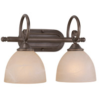 Jeremiah by Craftmade Raleigh 2 Light Vanity Light in Old Bronze 25302-OB