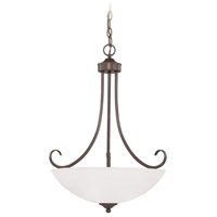 Craftmade 25323-OLB Raleigh 3 Light 20 inch Old Bronze Inverted Pendant Ceiling Light in Painted Alabaster
