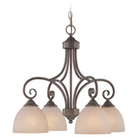 Raleigh 4 Light 23 inch Old Bronze Down Chandelier Ceiling Light in Warm Alabaster