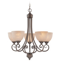 Craftmade 25325-OLB Raleigh 5 Light 24 inch Old Bronze Chandelier Ceiling Light in Warm Alabaster