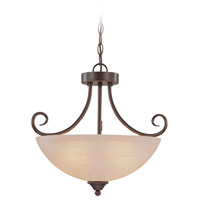 Craftmade 25333-OB Raleigh 3 Light 19 inch Old Bronze Semi Flush Mount Ceiling Light in Warm Alabaster Convertible to Pendant