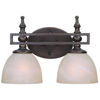 Seymour 2 Light 15 inch Old Bronze Vanity Light Wall Light in Warm Faux Alabaster Glass