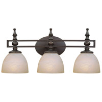 Seymour 3 Light 24 inch Old Bronze Vanity Light Wall Light in Warm Faux Alabaster Glass
