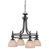 Seymour 4 Light 25 inch Oiled Bronze Chandelier Ceiling Light in Warm Faux Alabaster Glass