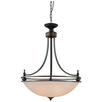 Craftmade 25434-OB Seymour 4 Light 27 inch Oiled Bronze Inverted Pendant Ceiling Light in Warm Faux Alabaster Glass