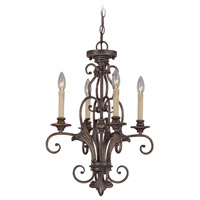 Jeremiah by Craftmade Ferentino 4 Light Chandelier in Burleson Bronze 25524-BBZ