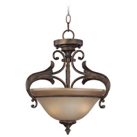 Jeremiah by Craftmade Ferentino 2 Light Semi-Flush in Burleson Bronze 25532-BBZ