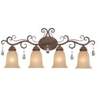 Craftmade 25604-FR Englewood 4 Light 32 inch French Roast Vanity Light Wall Light in Light Umber Etched